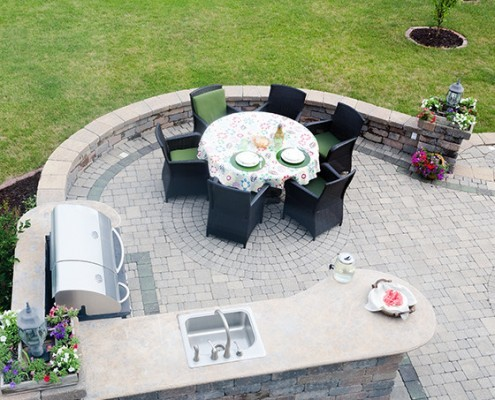 North Star Premier Custom Homes in Westlake, OH - Outdoor living space with sink & grille
